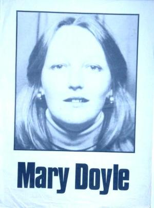 A poster of Mary Doyle when she was on hunger strike in Armagh