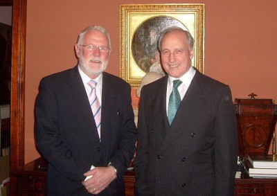 Martin Ferris TD with former Australian PM Paul Keating in Sydney in 2011