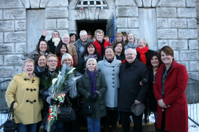 Former republican prisoners return to Armagh Women's Jail in December 2010 to mark 30 years since the women's hunger strike