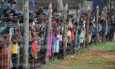 Tamils at Kadirgamh camp