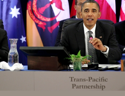 Obama at TPP meeting in Hawaii 2011