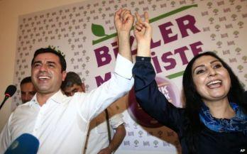 HDP co-chairs Selahettin Demirtaş and Figen Yüksekdağ